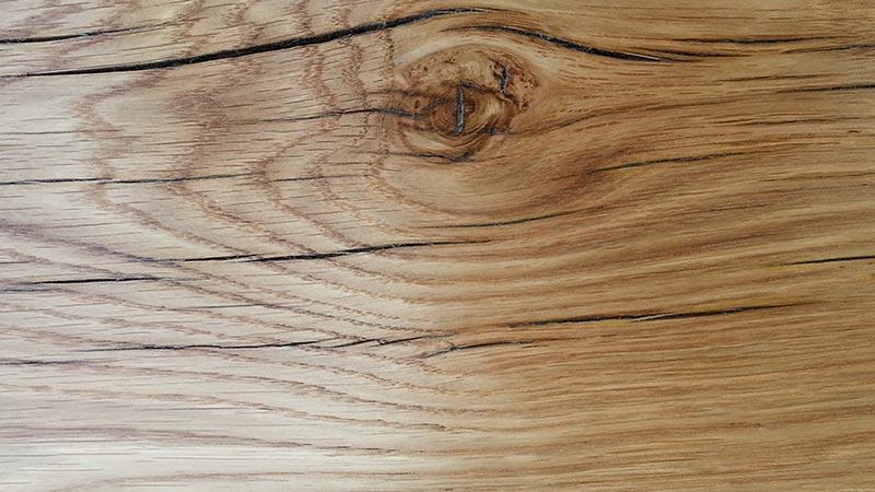 oiled oak fireplace beam